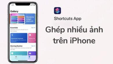 Cách ghép ảnh trên điện thoại iPhone bằng Siri Shortcuts