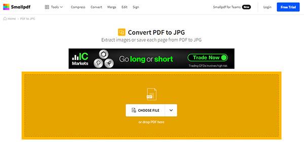 Chuyển file PDF sang file ảnh Online bằng SmallPDF