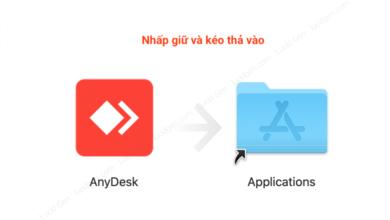 Kéo thả AnyDesk vào Applications