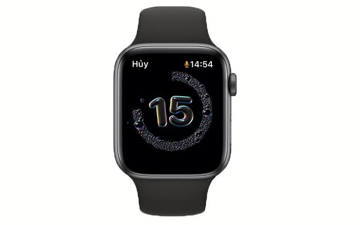 Apple Watch sẽ hiển thị màn hình đếm ngược trong 20 giây cho đến khi rửa tay xong