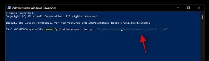 kiểm tra tình trạng pin laptop trên Windows 11
